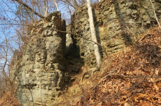 Rock Formation in Clifty Falls State Park