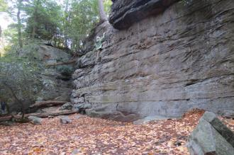 Climbing at Coopers Rock Outside Morgantown, West Virginia