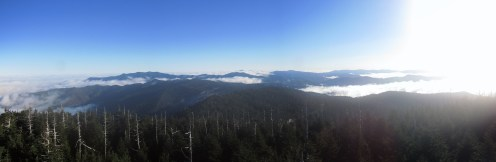 Clingman's Dome on the Tennessee/North Carolina Border Panorama