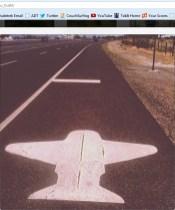 Airplane Road Marker in Fallon, Nevada
