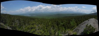 Fourth Mountain in the 100-Mile Wilderness in Maine Panorama