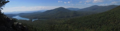 Hay Rock Outside Daleville, Virginia Panorama