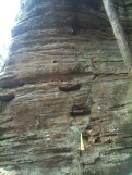 Guitar at the Hocking Hills Rappelling Area