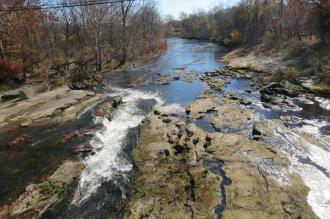 Hocking River in Logan, Ohio