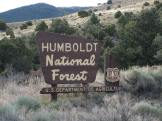 Humboldt National Forest Sign