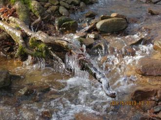 Icy Creek in the Lusk Creek Wilderness in the Shawnee National Forest