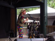 Joe Craven playing a Donkey's Jawbone at the Suwannee Springfest Bluegrass Festival