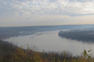 Ohio River Overlook in Leavenworth, Indiana