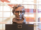 Lincoln Bust in Southern Illinois University in Carbondale, Illinois