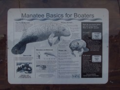 Manatee Basics for Boaters Sign along the Kissimmee River
