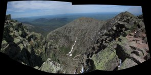 View from the Summit of Mount Katahdin in Maine Panorama