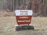 Pounds Hollow Recreation Area Sign in the Shawnee National Forest