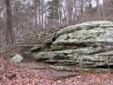 Rock Steps on the Rim Rock National Recreation Trail in the Shawnee National Forest