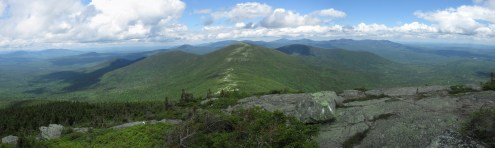 Saddleback Mountain in the White Mountains of New Hampshire Panorama