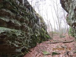 Icicles on Sandstone in the Shawnee National Forest