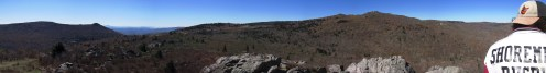 Stank on Stone Mountain in Grayson Highlands, Virginia Panorama