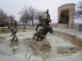 Fountain of the Centaurs Statues at the State Capital Building in Jefferson City