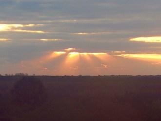 Sunrise Through the Clouds Over Lake Okeechobee