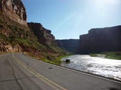 Upper Colorado River Scenic Byway on the way Into Moab
