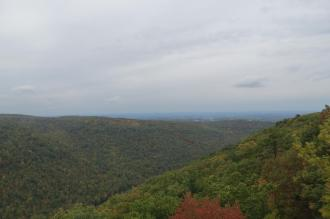 View From Coopers Rock Outside Morgantown, West Virginia