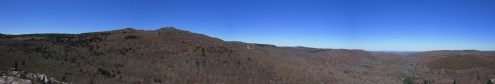 View from Stone Mountain in Grayson Highlands, Virginia Panorama