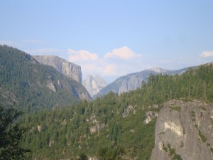 Yosemite National Park Overlook of Half Dome and El Capitan