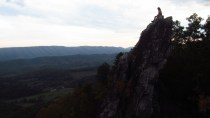 Me on Dragon's Tooth Outside Catawba, Virginia