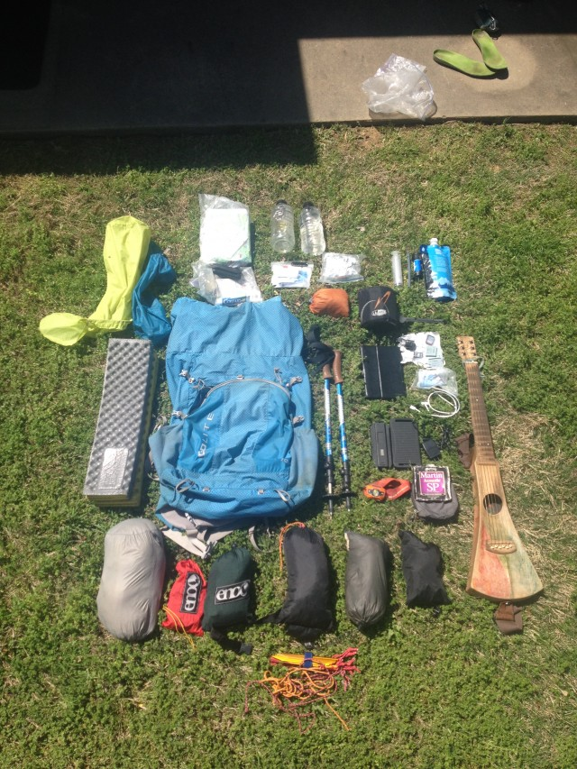 Everything I Carried with me on the Florida National Scenic Trail