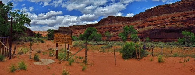Canyonlands Sign Panorama