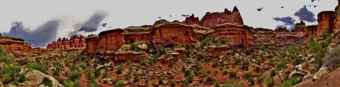 Elephant Canyon to Druid Arch Panorama