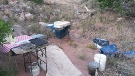 Kitchen at Onion Creek Camp on an Overnight Daily