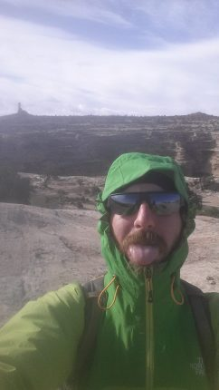 Selfie on the Pete's Mesa Trail in the Maze