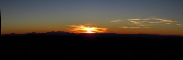 Sunset from Gemini Bridges Road Panorama