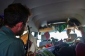 Jamming in the Campervan while Hitching with Markus and his Mom