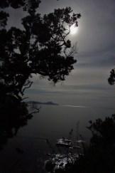 Full Moon over Bream Bay from the Waipu Coastal Track