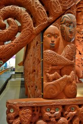 Marae Wood Carving in the Auckland Museum