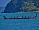 Maori Waka (War Canoe) Paddling in Paihia