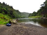 Packraft Beach Tarp Setup on the Whanganui River