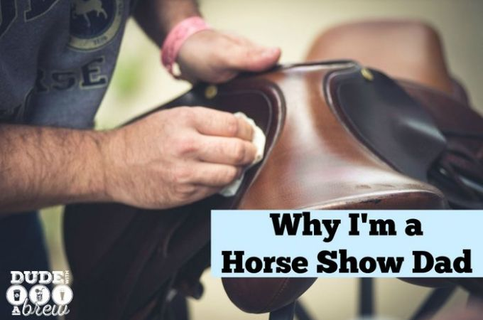 cleaning saddle horse show