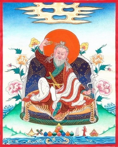 Commissioned thankga for my shrine by 3rd generation Buthanese thankga painter Tsering Dorjee