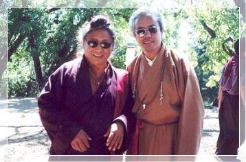 Kumar Lama and Lama Tharchin Rinpoche