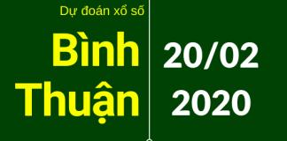 dự đoán xsbth 20/2/2020