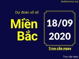 Dự đoán XSMB 18/9/2020