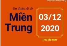 Dự đoán XSMT hôm nay 3/12/2020
