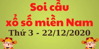 soi cầu xsmn thứ 3 ngày 22/12/2020
