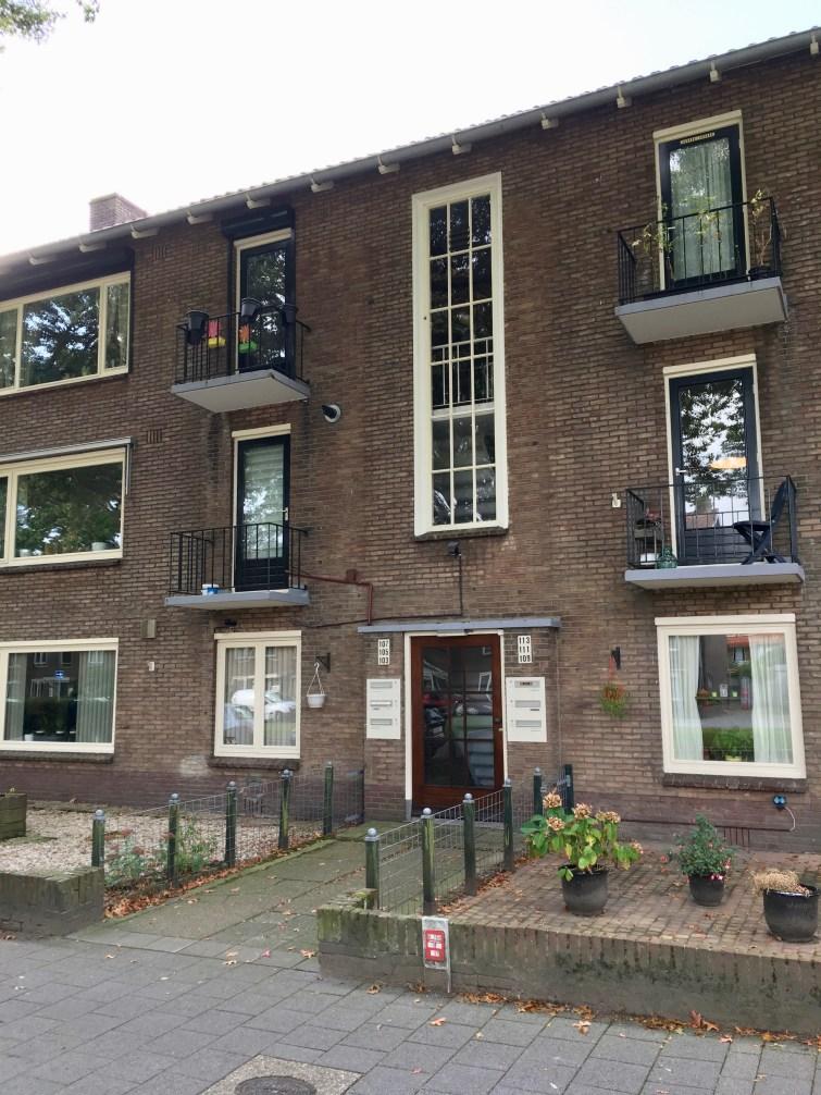 Flatwoningen Jacob van Campenlaan, Hilversum. Onderdeel van het 25e woningbouwcomplex. Foto Peter Veenendaal.