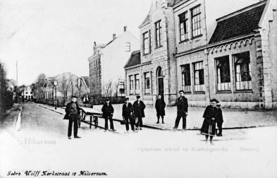 Rehobothschool, Neuweg Hilversum. Oorspronkelijk gebouw uit 1881, naar een ontwerp van J. Rietbergen. Foto: archief www.gooienvechthistorisch.nl