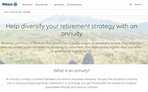 Allianz Life Of North America Fixed Annuity