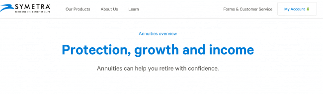 Symetra Life Annuity Product