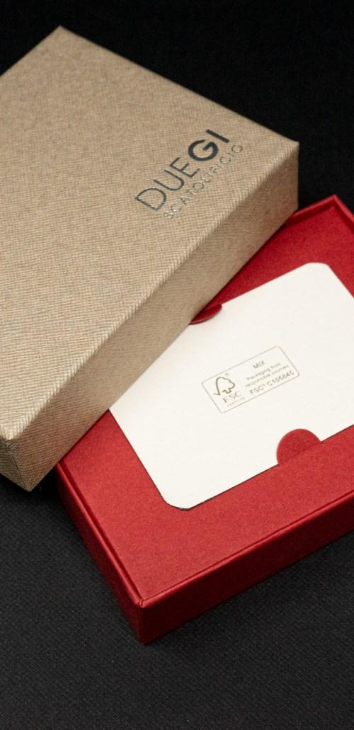scatola personalizzata per gift card